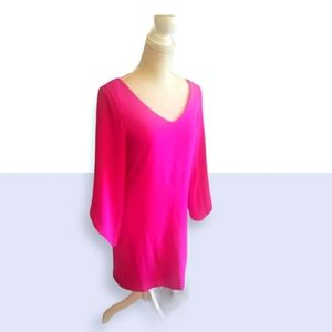 LAUNDRY Pink Sheath w Layered Bell Sleeves